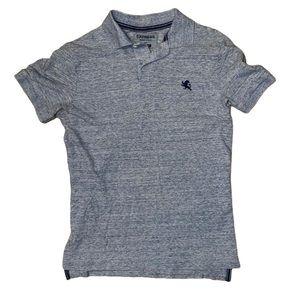 Express men's pique polo modern fit,small,gray